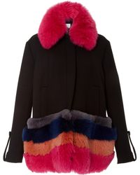 Tanya Taylor - Poppy Fur Collar Coat - Lyst