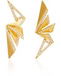 Kavant & Sharart - Origami Fan Earrings - Lyst