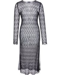 Helen Rödel - Saudade Long Sleeve Knit Dress - Lyst