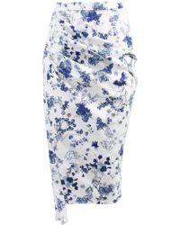 ANOUKI - Draped Pencil Skirt - Lyst
