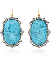 Arman Sarkisyan - Turquoise Art Deco Earring - Lyst