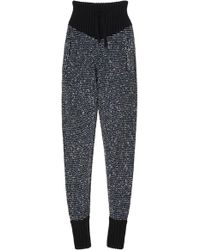 Alessandra Rich | Cashmere And Sequin Tracksuit Pant | Lyst