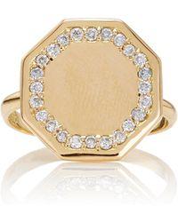 Emily & Ashley   Diamond Signet Ring   Lyst