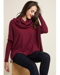 ModCloth - A Cozy Touch Sweater - Lyst