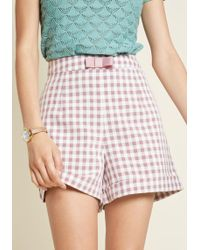 ModCloth - So Sass Year High-waisted Shorts - Lyst