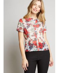 eff1bb83a8 Hell Bunny - Blossom Toss-up Button-up Blouse - Lyst