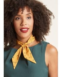 ModCloth | It's About Tie Neck Scarf In Mustard | Lyst