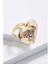 ModCloth - Earn Your Keepsake Locket Ring - Lyst