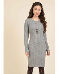 Mak - Luxe Lodge Sweater Dress In Smoke - Lyst