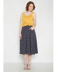 Effie's Heart - Next On Deck Midi Skirt In Bicycles - Lyst