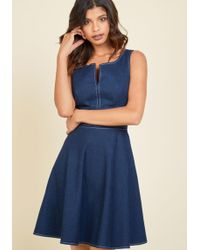 Appareline - Endlessly Fresh Denim Dress - Lyst