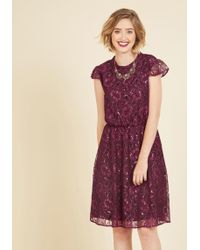 Appareline - Fanfare Variable Lace Dress In Magenta - Lyst