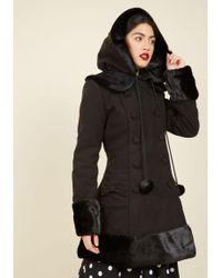 Hell Bunny London - For The Winnipeg Coat In Black - Lyst