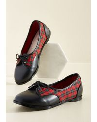 Banned - Hurry Up And Gait Oxford Flat - Lyst