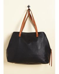 ModCloth - Minutes Turn To Sections Bag In Black - Lyst