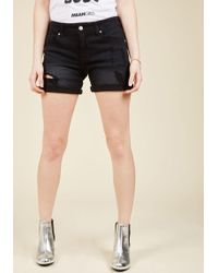 Eunina, Incorporated | Pull The Rugged Out Shorts In Black | Lyst