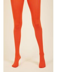 45b5217e6 Gipsy Tights - Accent Your Ensemble Tights In Persimmon - Lyst