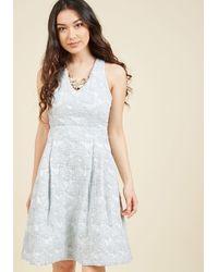 Appareline - Posh Presence A-line Dress In Ice - Lyst