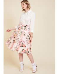 Rock Steady/steady Clothing In - Bugle Joy Skirt In Pink Blossoms - Lyst