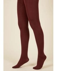 Gipsy Tights - Accent Your Ensemble Tights In Merlot - Lyst