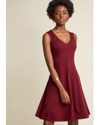 Appareline - Shoulder Cutout A-line Dress In Mulberry - Lyst