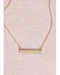 ModCloth - Measured Merriment Necklace - Lyst