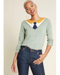 ModCloth - Optimal Illusion Knit Sweater - Lyst
