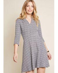 ModCloth - A Zest For Success V-neck Dress - Lyst