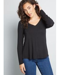 ModCloth - Endless Possibilities Long Sleeve Top - Lyst