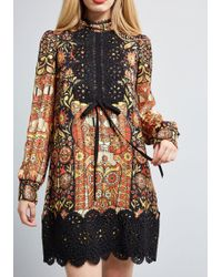 Anna Sui - Fanciful Feline Shift Dress - Lyst