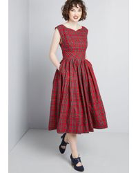 ModCloth - Fabulous Fit And Flare Dress With Pockets - Lyst