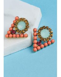 ModCloth - Just Gotta Tri Earrings In Coral - Lyst