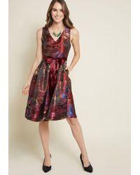 e4b44b9696f97 ModCloth - Jacquard Aura Fit And Flare Dress - Lyst