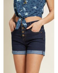 ModCloth - Karaoke Seamstress High-waisted Shorts - Lyst
