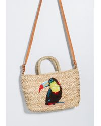 ModCloth - Toucan Company Straw Tote - Lyst
