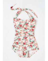 Bettie Page - Never Been Better One-piece Swimsuit In Floral - Lyst