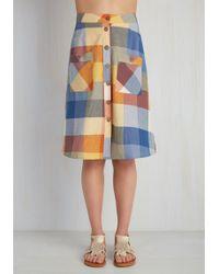 Mata Traders - Swap Meet Sweetheart Skirt In Sunny Plaid - Lyst