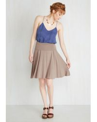 Mai Tai - Up Close And Versatile Skirt In Taupe - Lyst