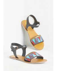 East Lion Corp/Qupid - Bead The Odds Sandal - Lyst