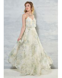 Jenny Yoo - Enchanting Romantic Dress In Ivory Floral - Lyst