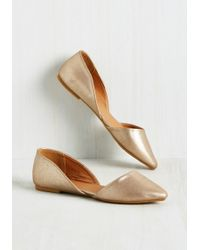 East Lion Corp/Qupid - Essential Edge Flat In Gold Shimmer - Lyst