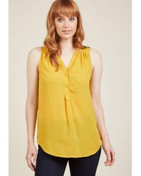 ModCloth - Girl About Scranton Tunic In Marigold - Lyst