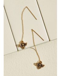 ModCloth - Somewhere To Bee Threader Earrings - Lyst