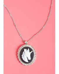 ModCloth - Horn In The Wrong Decade Pendant Necklace - Lyst