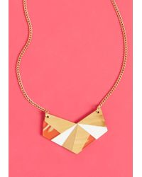 ModCloth - Angular Aspirations Necklace - Lyst