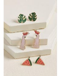 ModCloth - Unstoppably Tropical Earring Set - Lyst