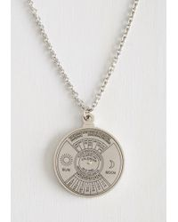 ModCloth - Spin Me Right 'round Time Necklace - Lyst