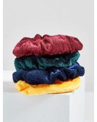 ModCloth - Hair And Square Velvet Scrunchie Set - Lyst