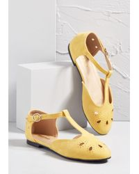 ModCloth - The Zest Is History T-strap Flat - Lyst