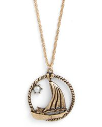 ModCloth - Dreaming Of The Sea Necklace - Lyst